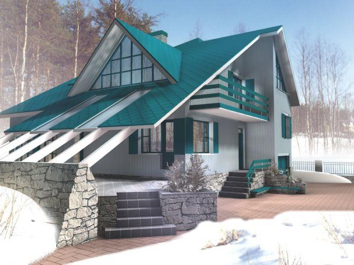 Дачный дом из бруса 6 х 4 - Новстрой Проект, цена, фото и