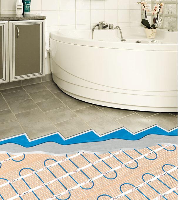 Теплые электрические полы в ванной комнате своими