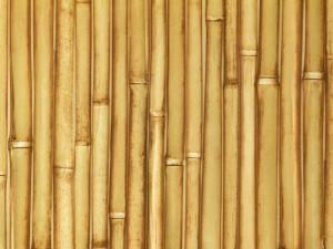 Встроенная мебель и весь интерьер декорированный бамбуком