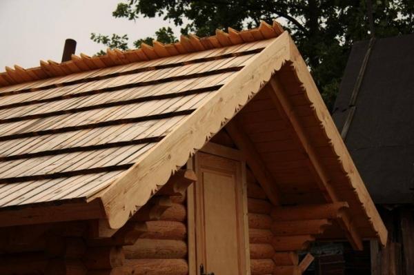 Крыша деревянного дома своими руками фото