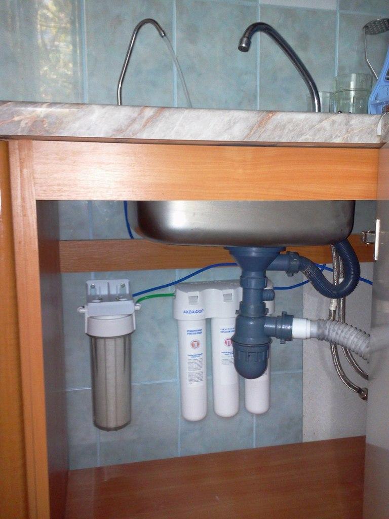 Установка фильтра для воды своими руками видео